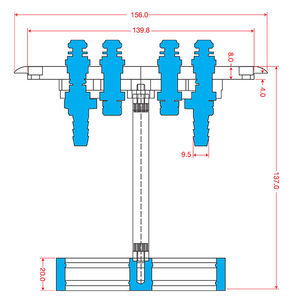 injector hanger dimensions